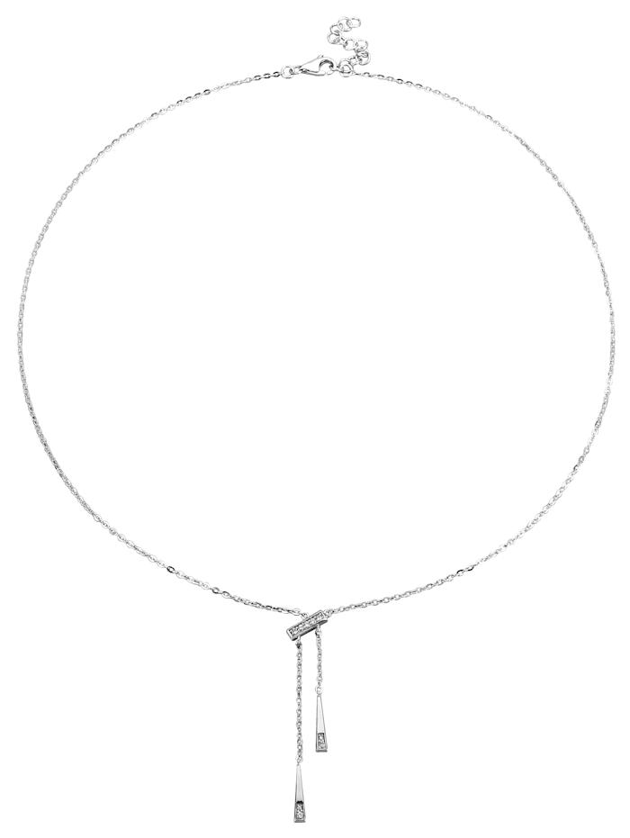 Diemer Diamant Y-vormig collier metdiamanten, Witgoudkleur