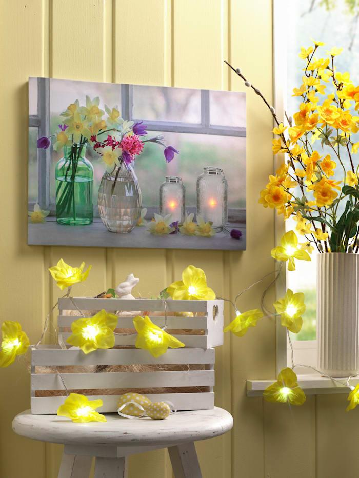 LED-Narzissengirlande, gelb