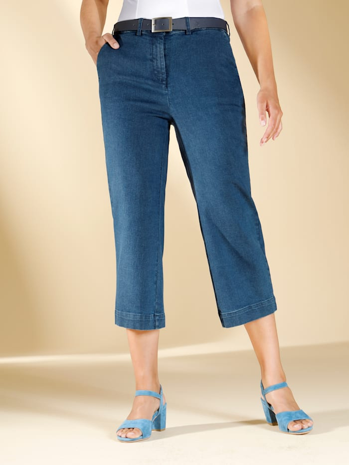 m. collection Jeans-Culotte in Stretchqualität, Blau