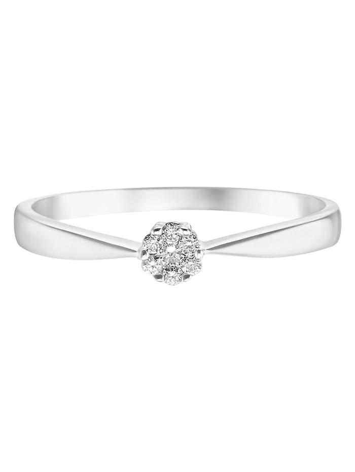 CHRIST Diamonds Damen-Damenring 375er Weißgold 7 Diamant