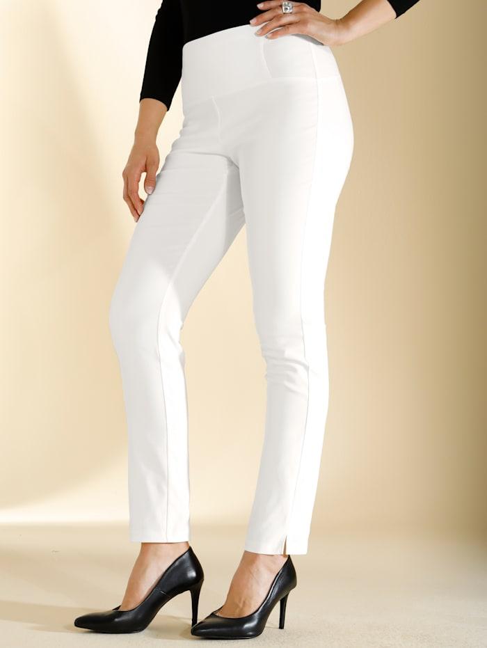 m. collection Pantalon en matière stretch, Écru