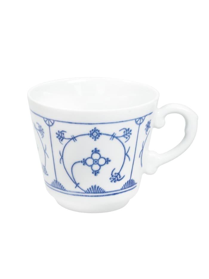 Kahla Kaffee-Obertasse Comodo Blau Saks Blau Saks, Weiß