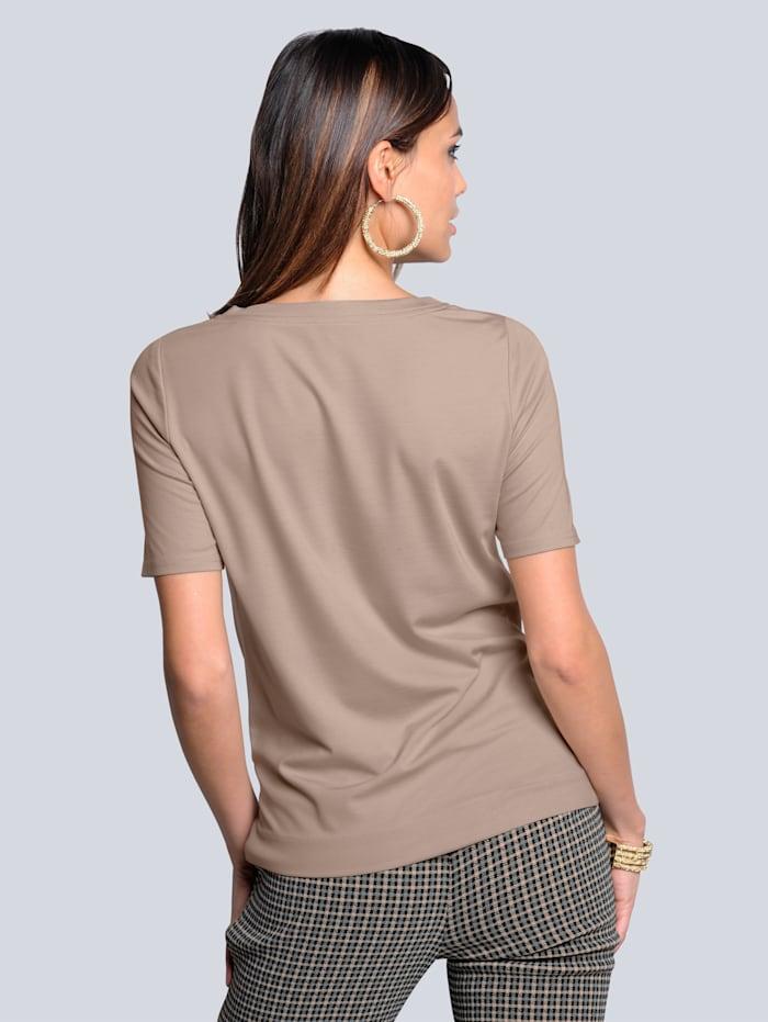 Shirt in geknoopte look