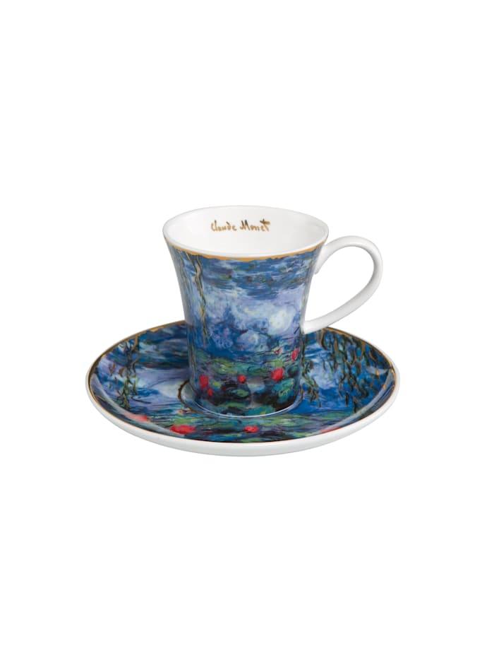 Goebel Goebel Espressotasse Claude Monet - Seerosen mit Weide, Monet - Seerosen
