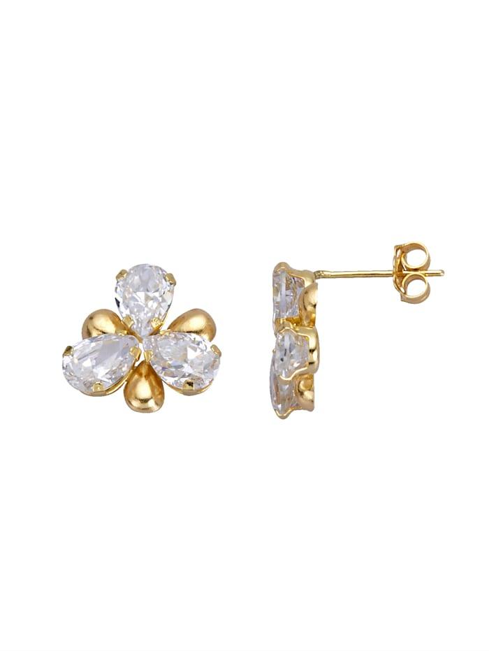 Boucles d'oreilles en or jaune 375, Coloris or jaune