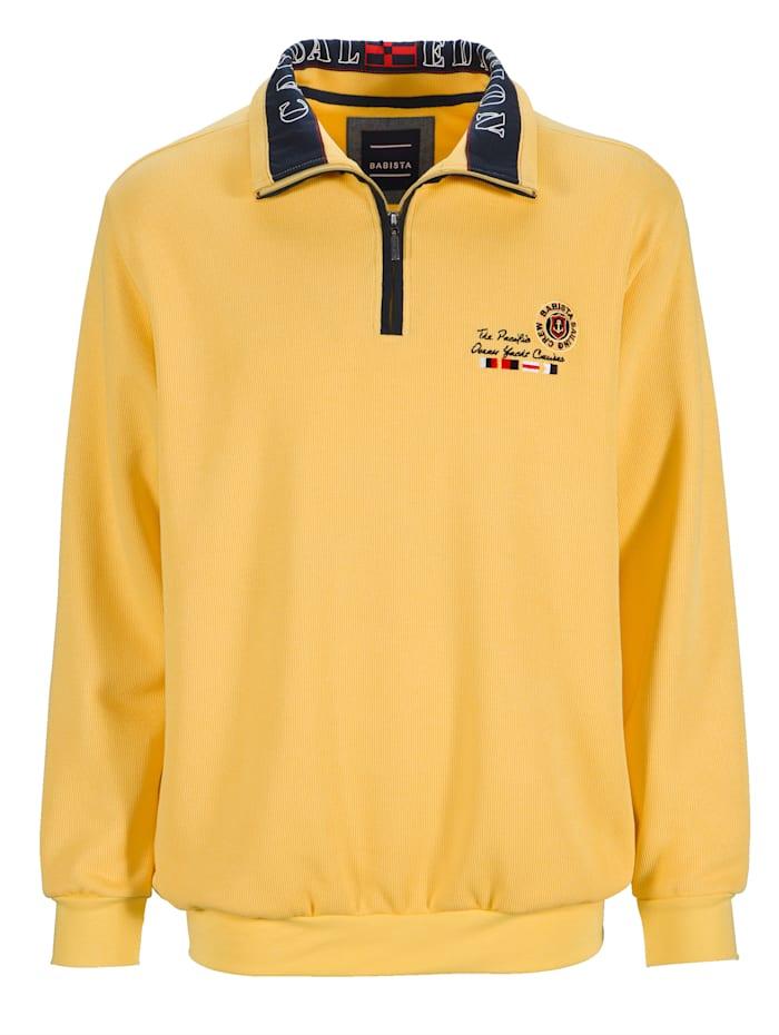 BABISTA Sweatshirt mit modischem Druck im Kragen, Gelb