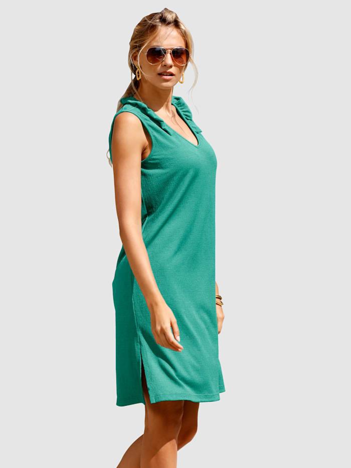 Maritim Strandklänning med rysch vid halsringningen, Grön