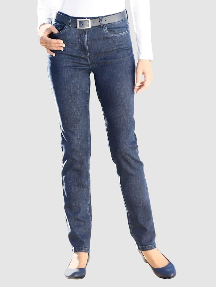 Paola Jeans in 5-Pocket Form, Dark blue