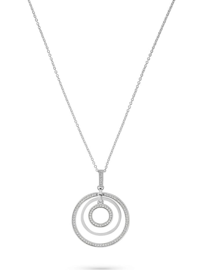 Jette JETTE Damen-Kette 925er Silber 95 Zirkonia, silber