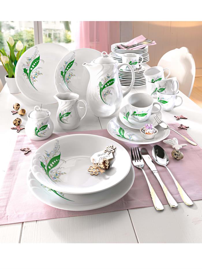 Service à café 12 pièces Daphne orné d'un motif muguet