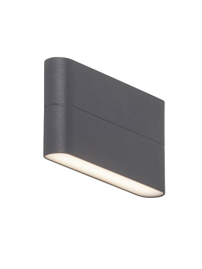 AEG Telesto LED Außenwandleuchte 18cm 2flg anthrazit, anthrazit