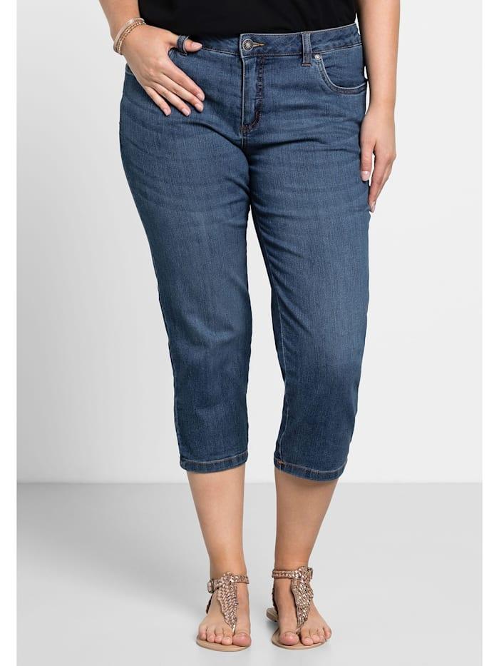 Sheego Sheego Capri-Jeans, blue Denim