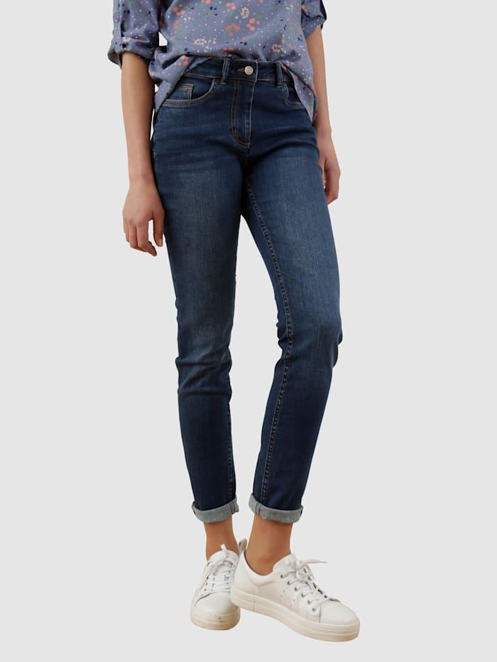 Dress In Jeans i behagelig materiale, Dark blue