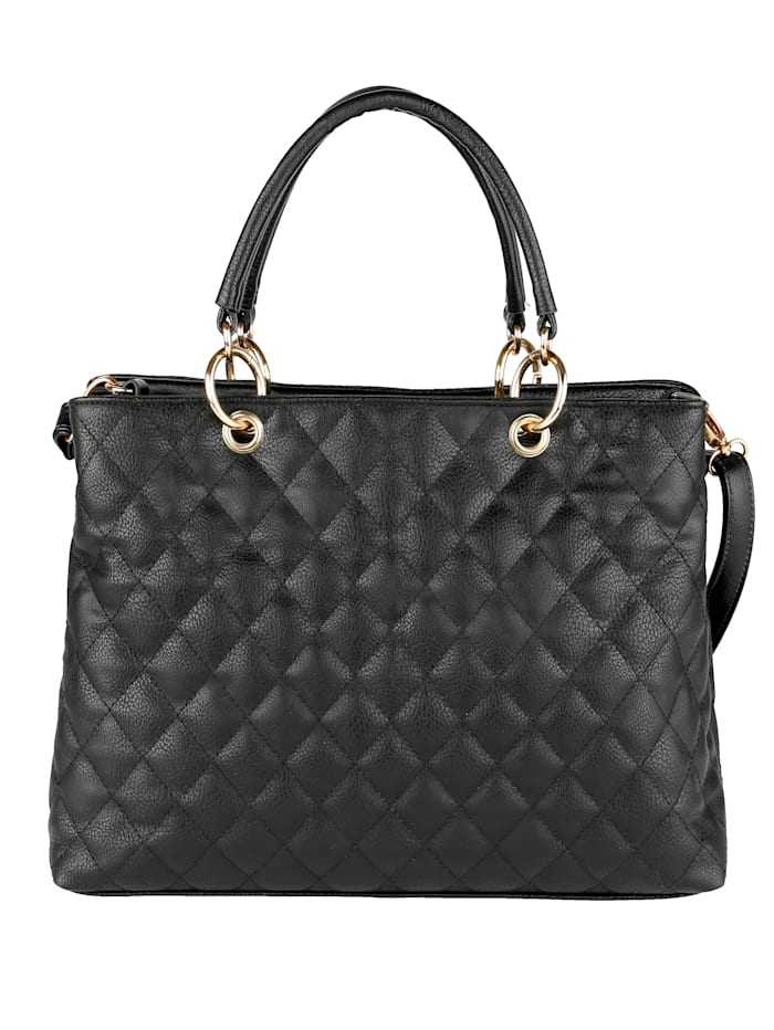 Handbag with a classic diamond stitch