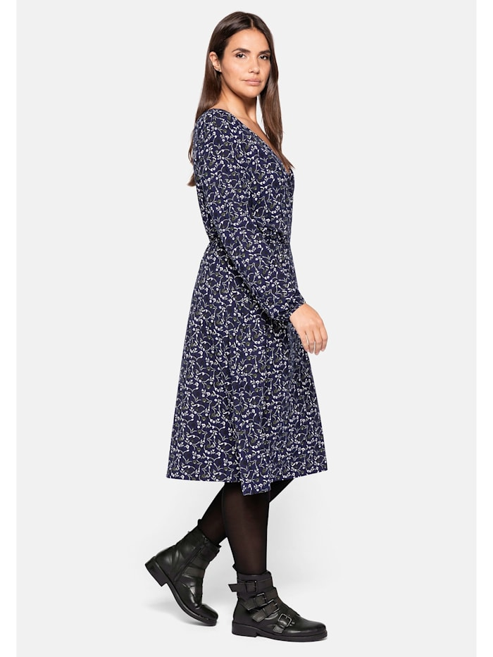 Sheego Jerseykleid mit Wickeloptik