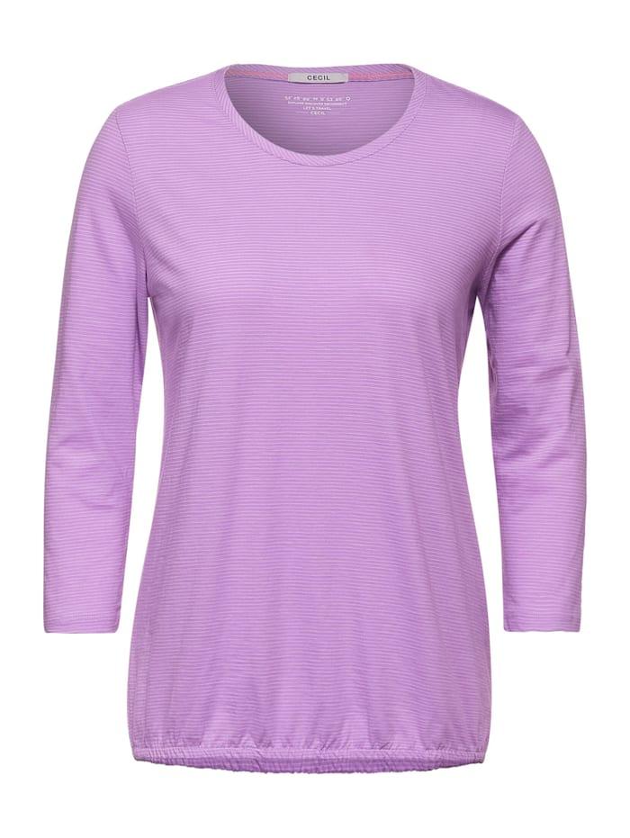 Cecil Shirt mit 3/4-Ärmeln, soft violet