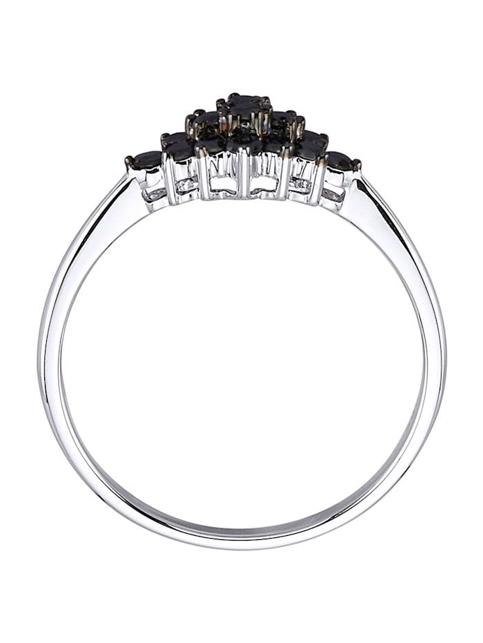 Bague avec diamants noirs