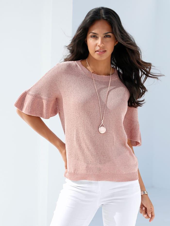 Pullover mit Flügelärmel und Glanzgarn