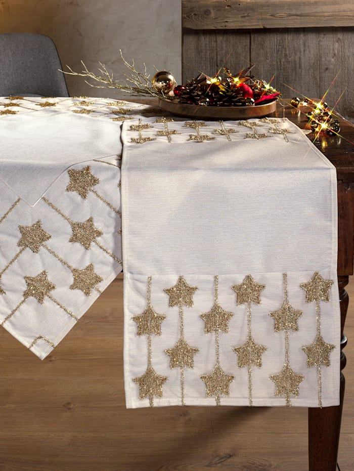 Webschatz Tischwäsche 'Mary', weiß gold