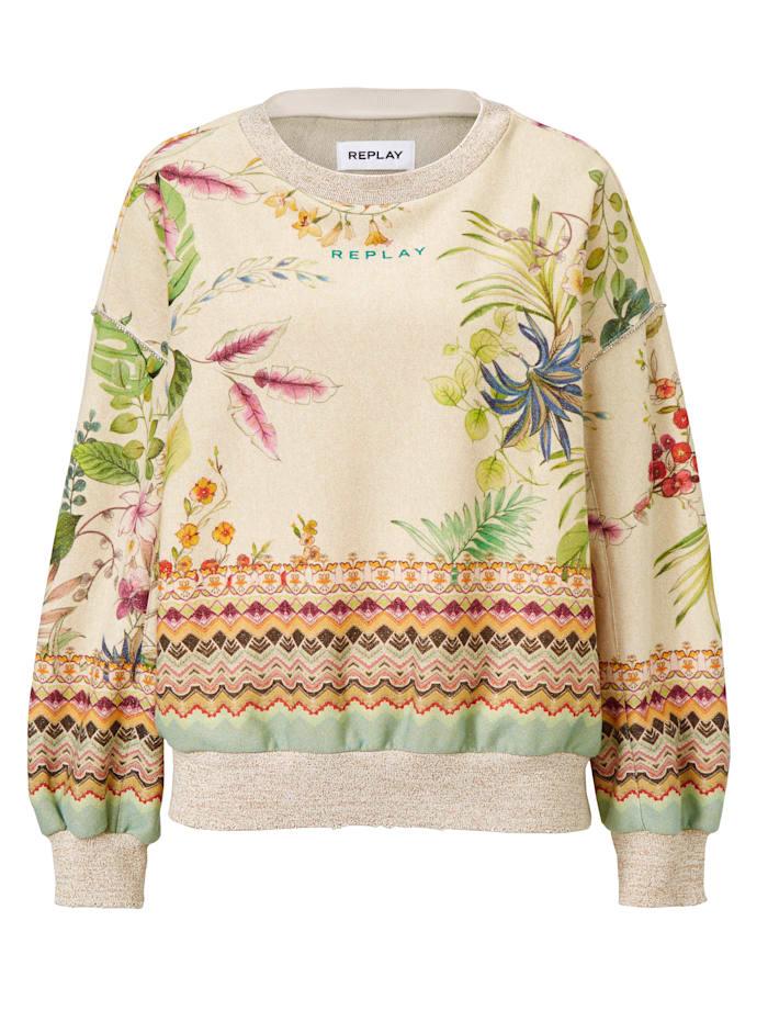 REPLAY Sweatshirt, Beige