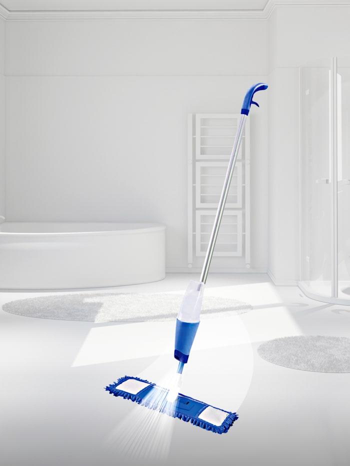 HSP Hanseshopping Clever Clean ViralOff®- laattamoppi suihkaustoiminnolla, sininen/valkoinen