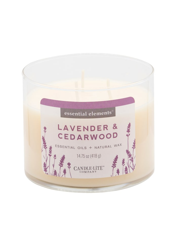 Candle-Lite Duftkerze Lavendel, weiß