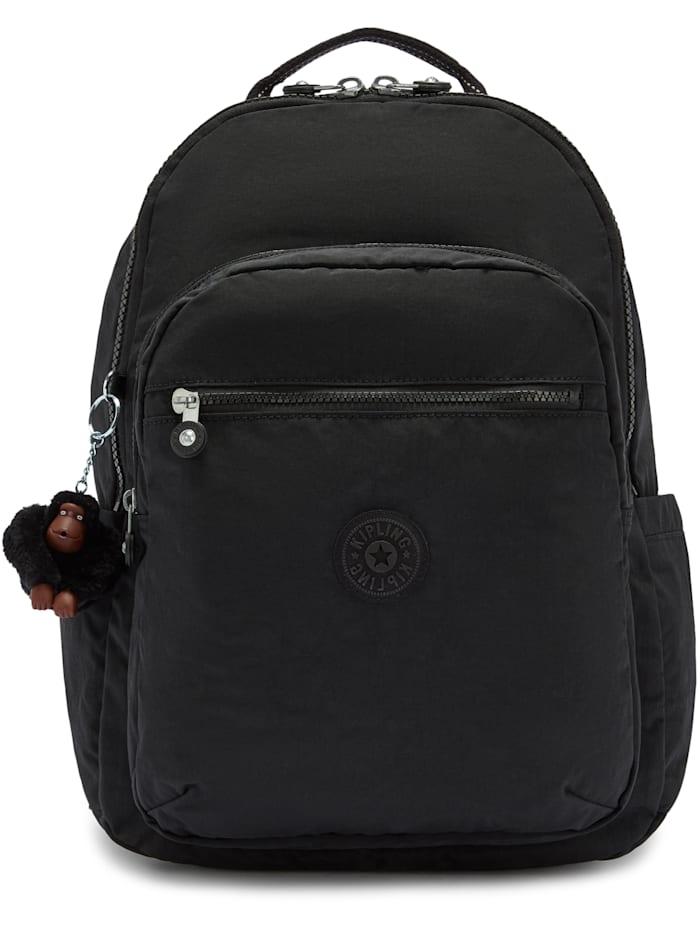 Kipling Back To School Seoul Rucksack 44 cm Laptopfach, true black