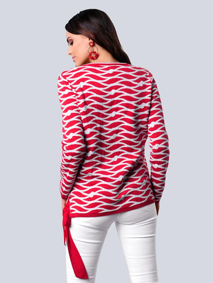 Pullover im exklusivem Jaquarddessin von Alba Moda