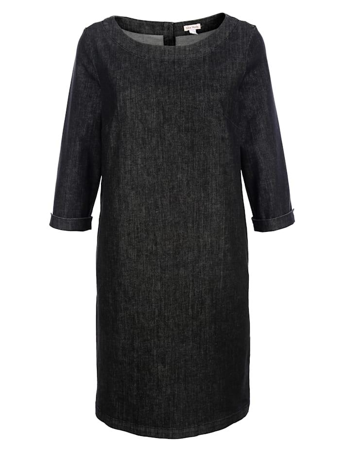 Alba Moda Spijkerjurk in modieus model, Zwart