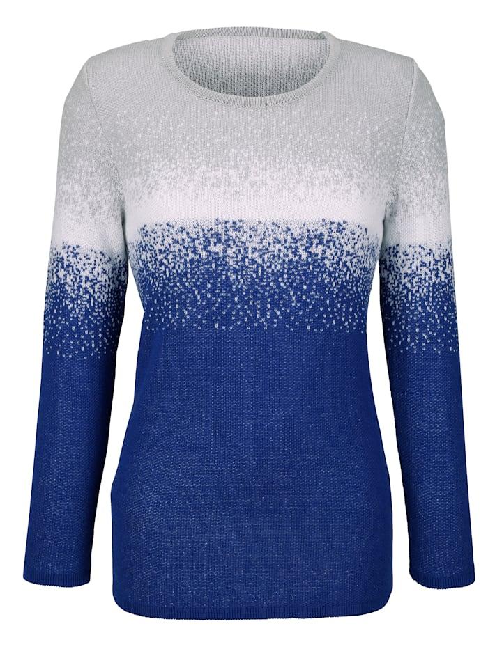 Pullover mit kontrastfarbigem Farbverlauf