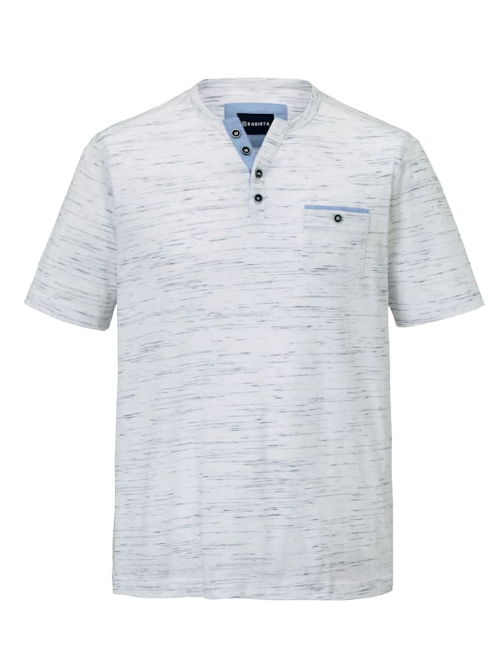 Henleyshirt in Flammgarn-Optik