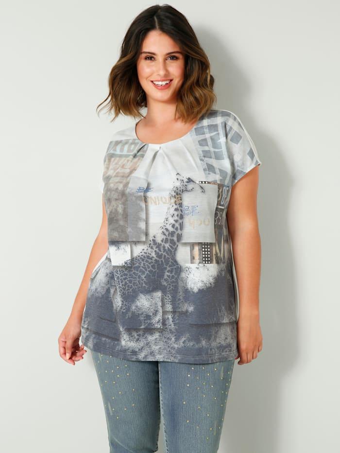 Sara Lindholm Shirt met aangeknipte mouwen, Grijs