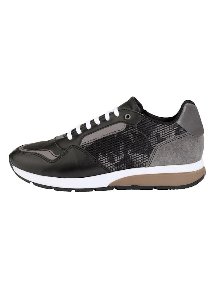 Sneakers avec empiècement en mesh