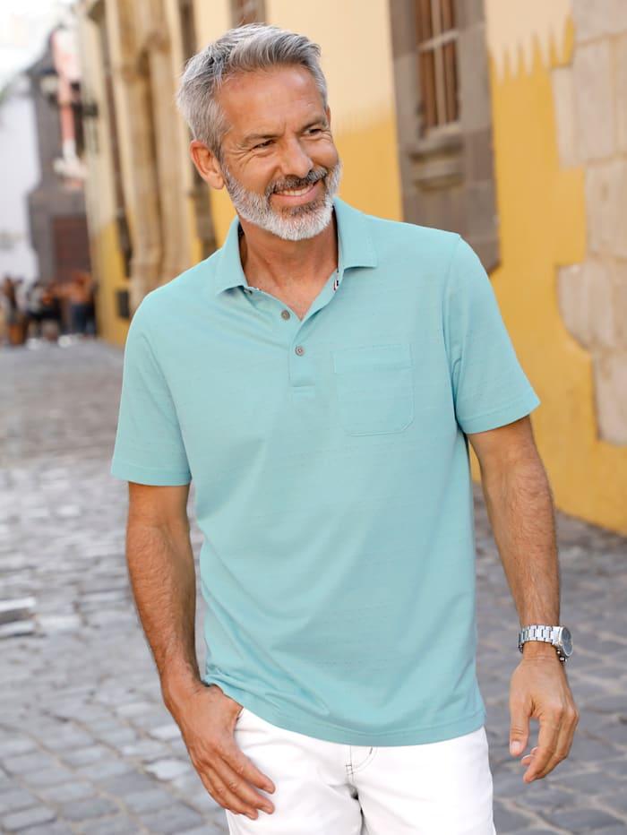 BABISTA Poloshirt met jacquardpatroon rondom, Mint