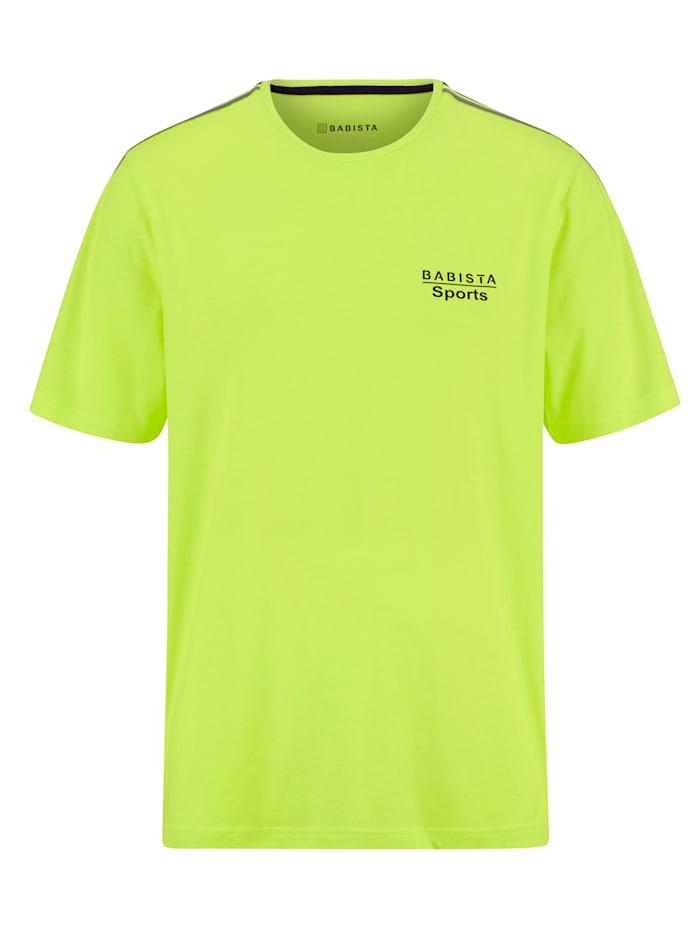 BABISTA Shirt van een sneldrogende katoenmenging, Neongeel