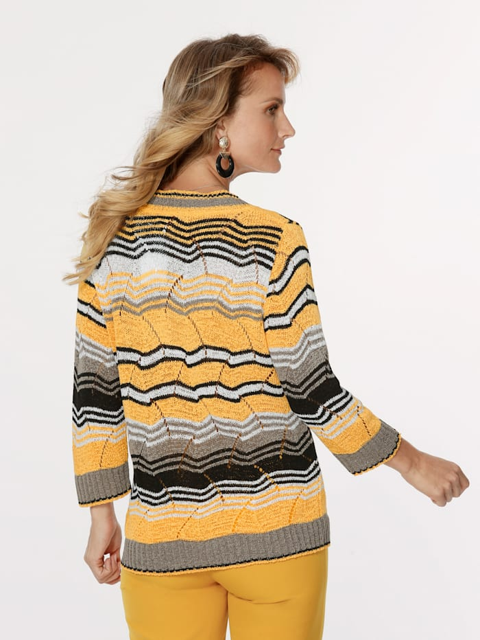 Jumper made from an ajour knit