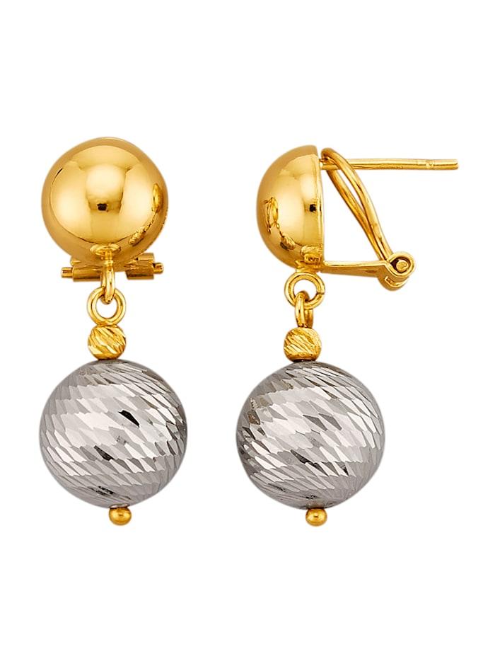 Amara Highlights Boucles d'oreilles avec breloques tendance, Coloris or jaune