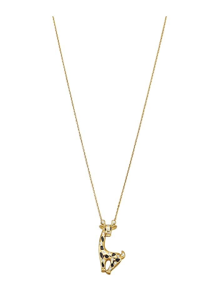 Halsband med giraff, Guldfärgad