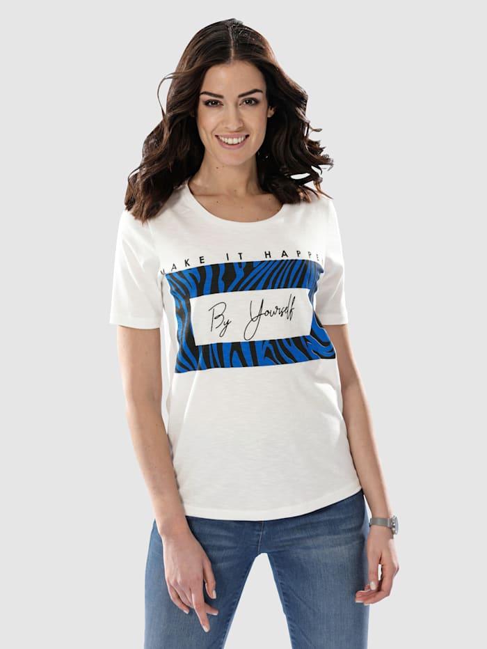 Dress In Shirt mit modernem Druck, Ecru