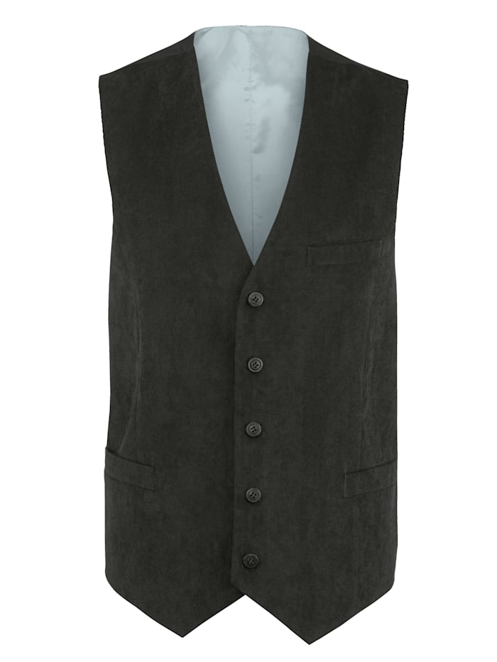 Men Plus Gilet de costume coupe spéciale, Anthracite
