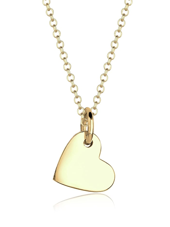 Elli Premium Halskette Herz Liebesbeweis 375 Gelbgold, Gold