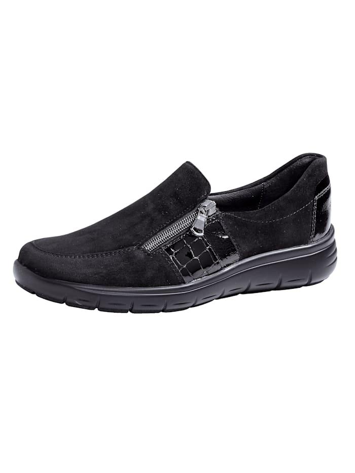 Kengät – kantapehmuste ja -vaimennus, Musta