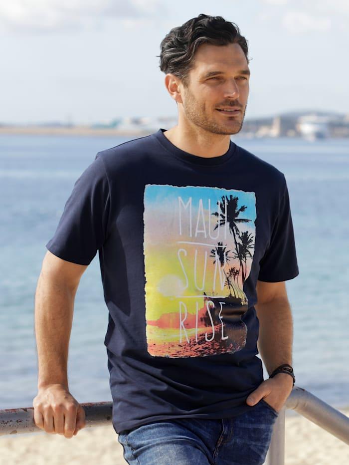 BABISTA T-Shirt mit platziertem Druck, Marineblau