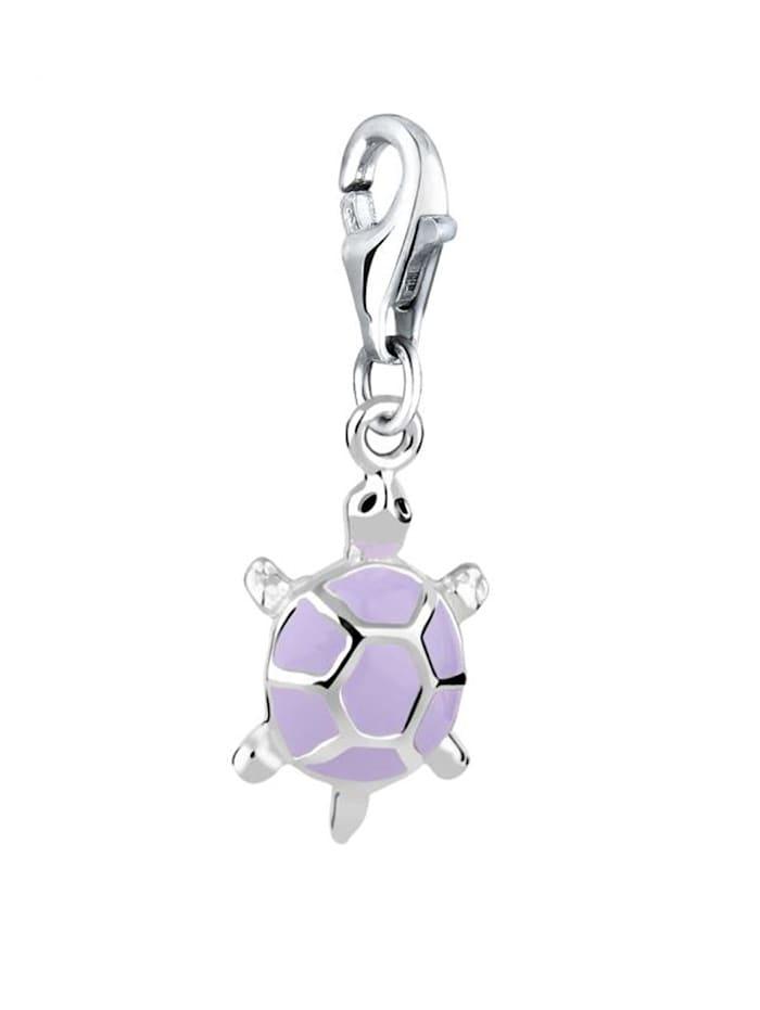 Charm Anhänger Schildkröte Emaille Pastell 925 Silber