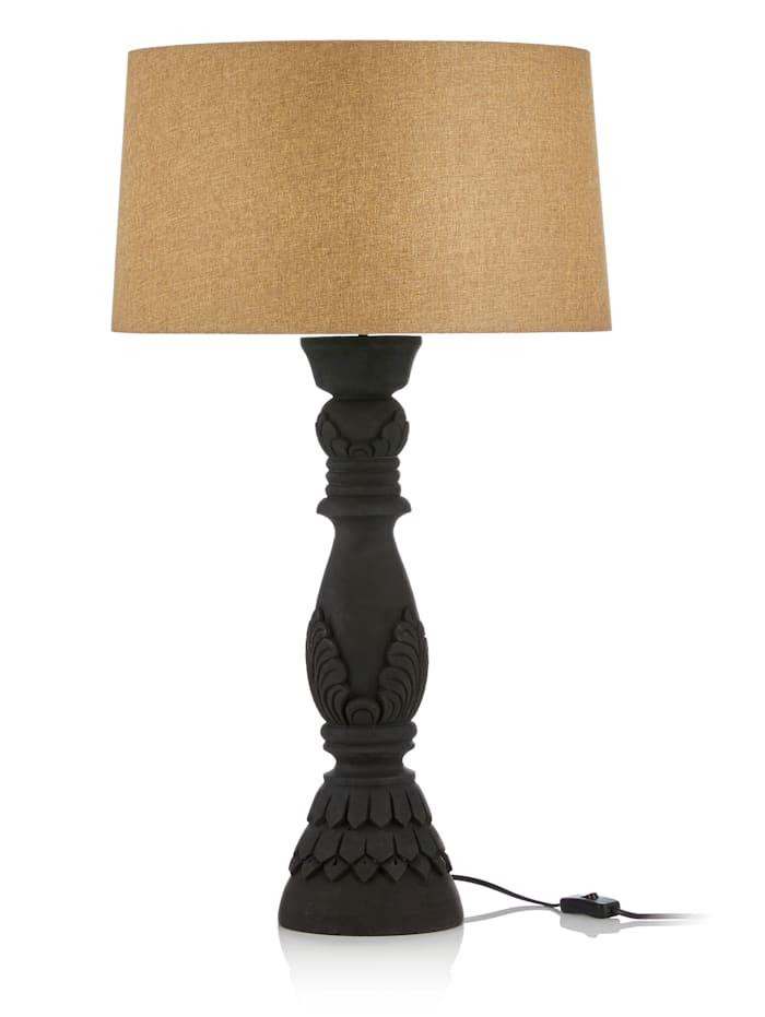 IMPRESSIONEN living Lampe de table, noir/naturel