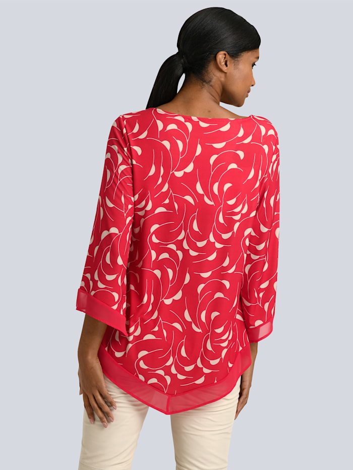 Shirt met zomerse print rondom