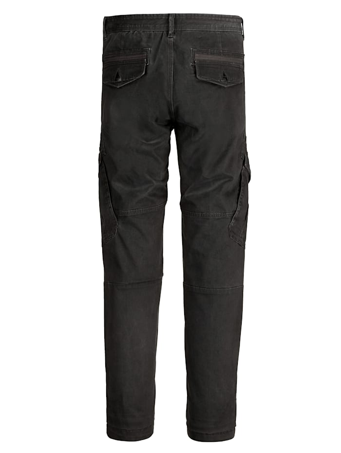 Pantalon cargo à léger effet usé