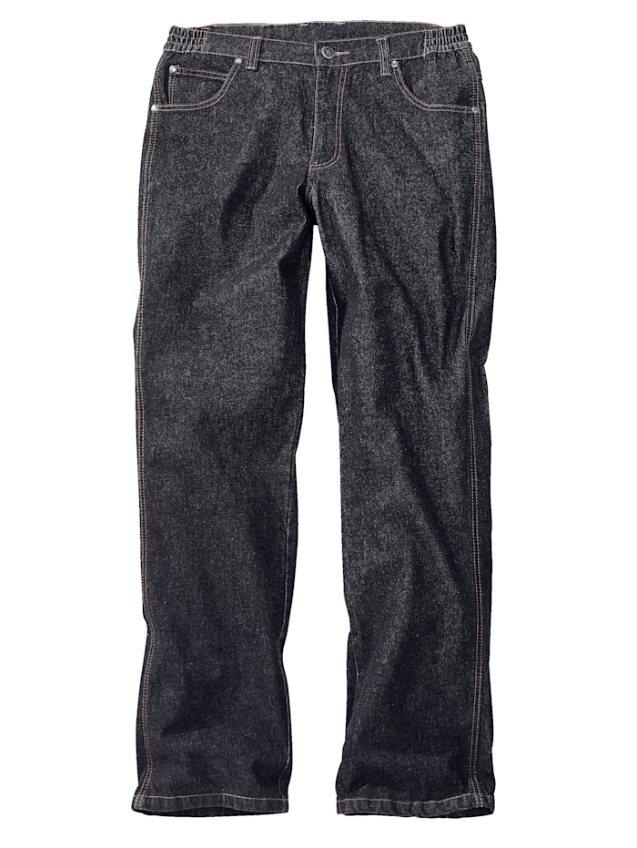 Men Plus Stretch-Jeans, Black stone