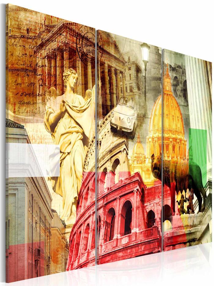 artgeist Wandbild Zauberhaftes Rom - Triptychon, mehrfarbig