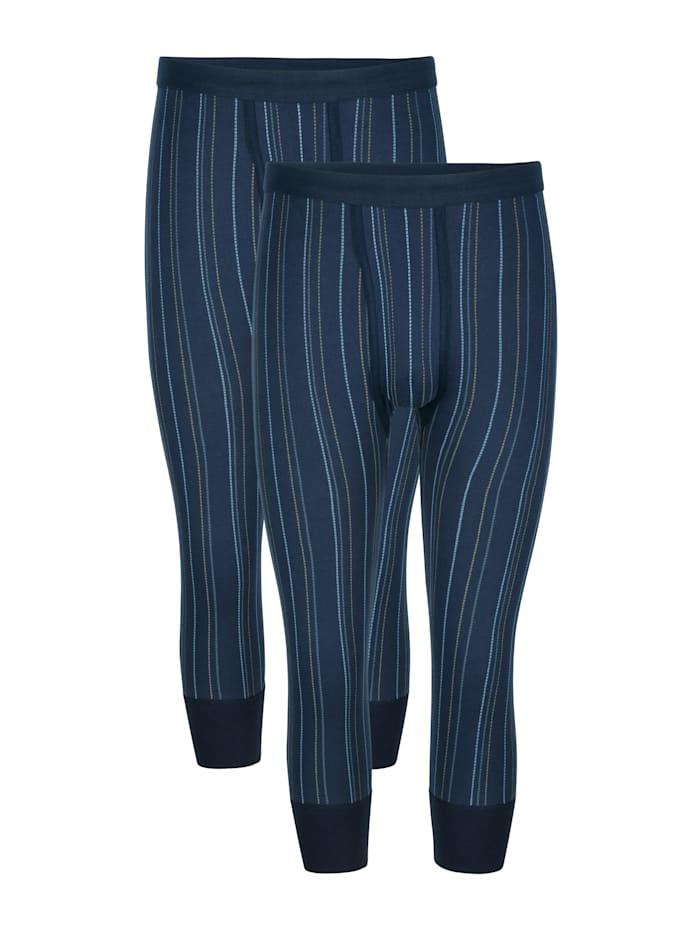 Unterhosen im 2er-Pack mit elastischem Weichbund, Marineblau